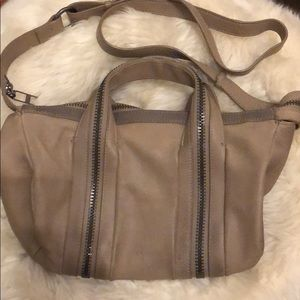 Kelsi Dagger Taupe Zip Crossbody Bag